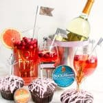 New Year's Eve DIY drink dessert bar