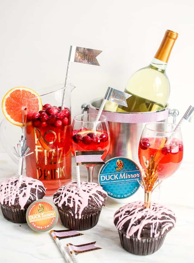 New Year's Eve DIY drink dessert bar