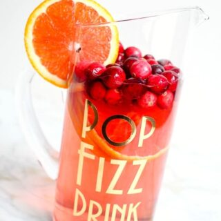 how to personalize a holiday drink pitcher