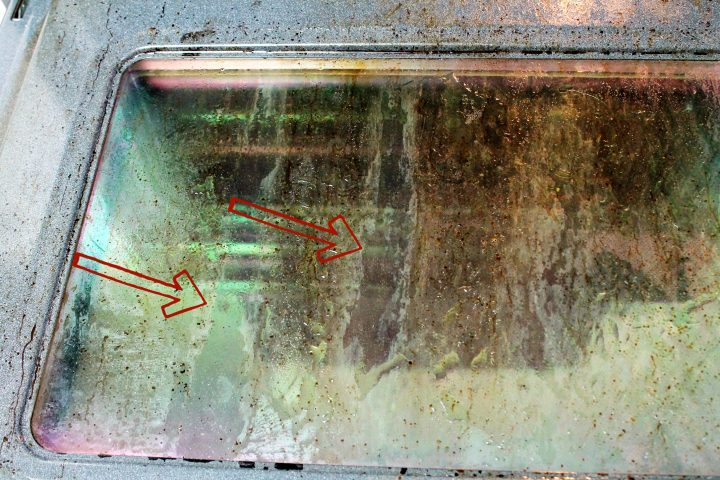 how to clean oven door steam machine