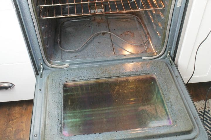 how to clean oven stove without chemicals