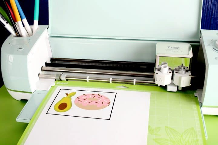 how to do cricut print and cut vinyl