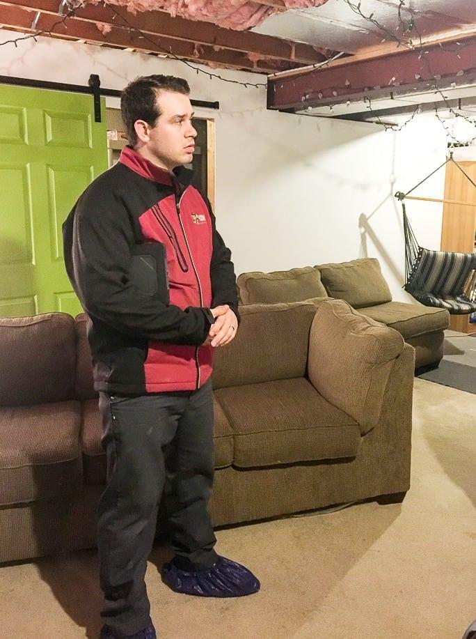 Finishing the basement lights