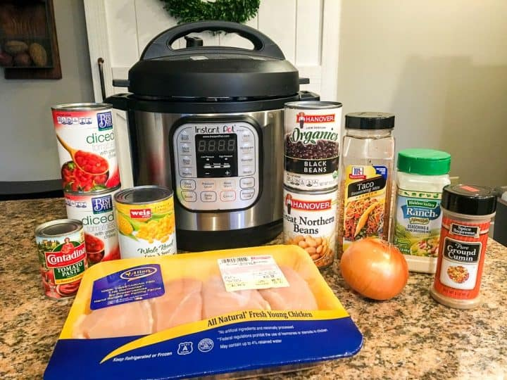 Ingredients for Instant Pot Chicken Taco Soup