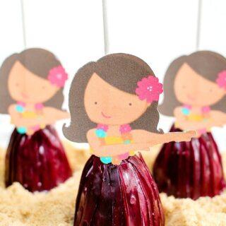 Luau Hula Girl cake pops