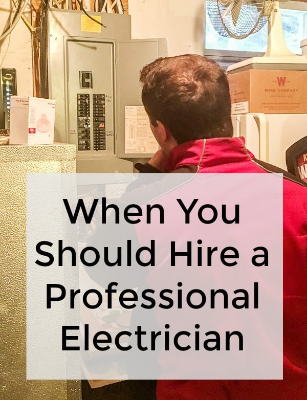 When you should hire a professional electrician