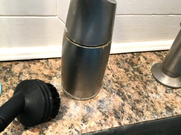 how to clean hard water rings around faucets