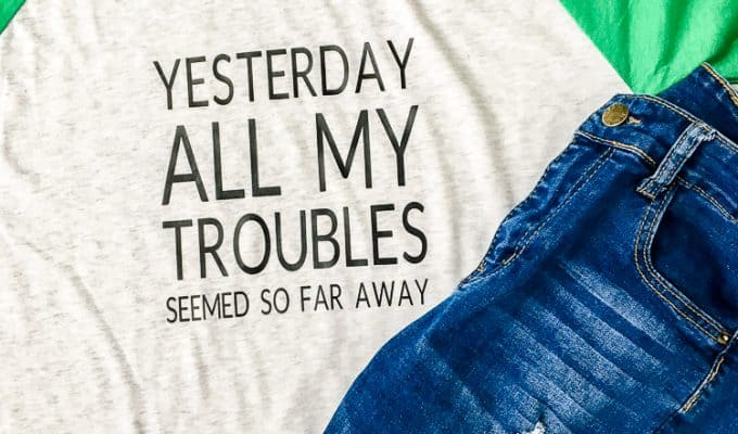 How to Personalize a Tshirt with Heat Transfer Vinyl