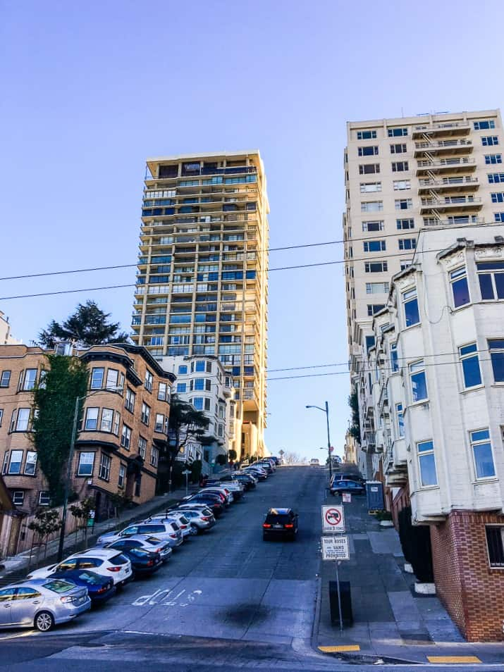 steep hills in San Francisco