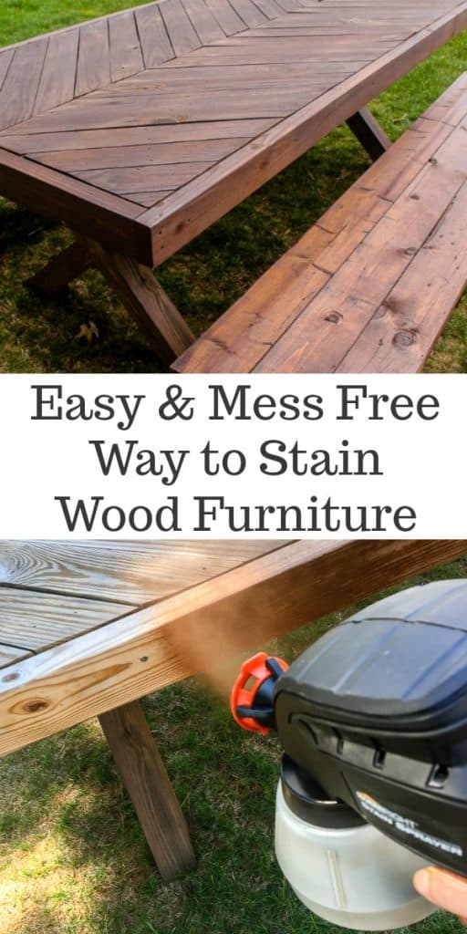 Easiest Way To Stain A Wood Table A Turtles Life For Me - How to stain a picnic table