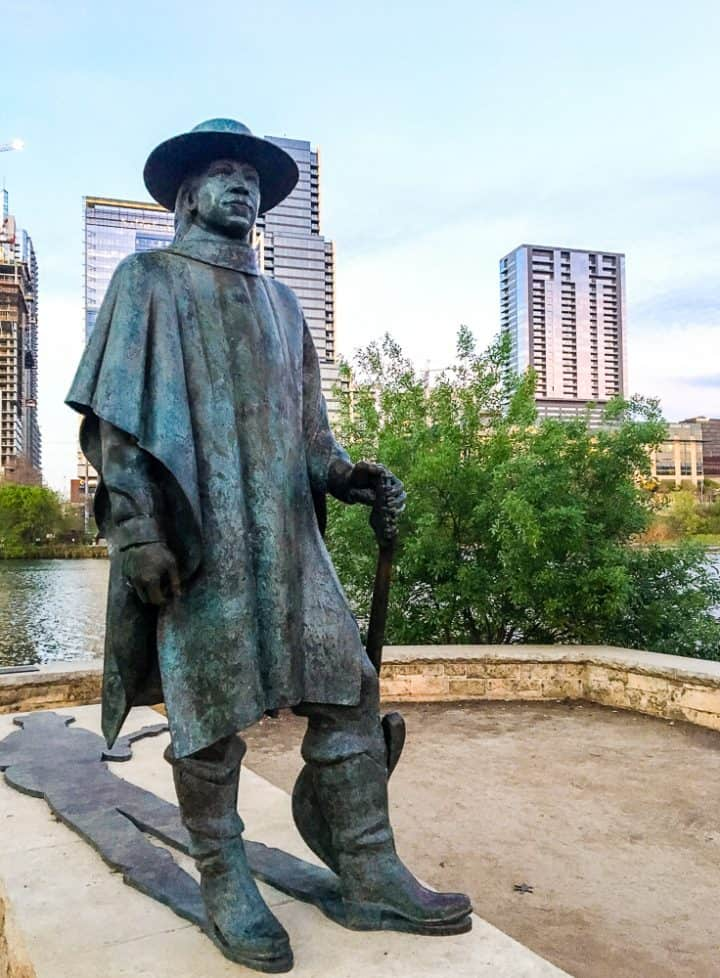 Stevie Ray Vaughan statue Austin Texas