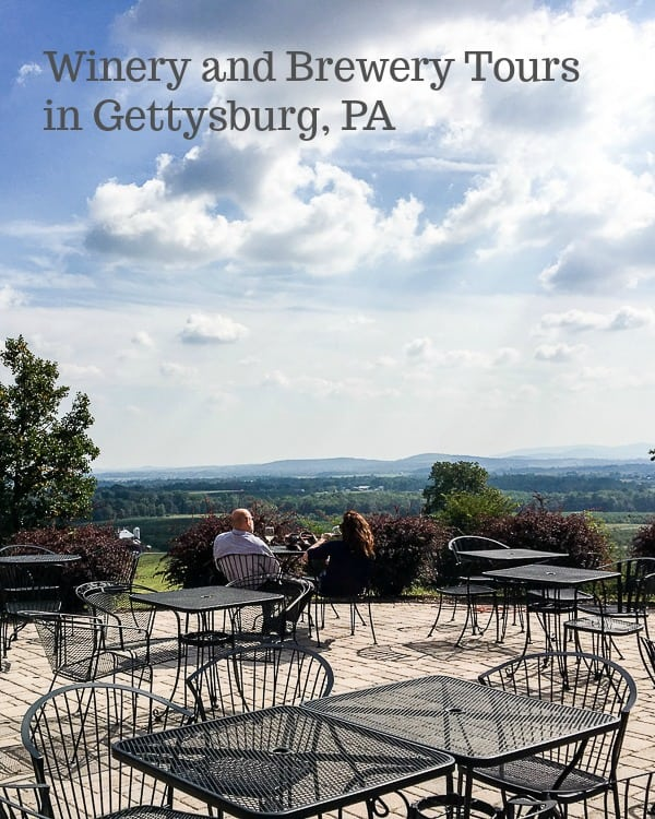 winery and brewery tours in Gettysburg, PA