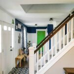After stairwell after it was painted