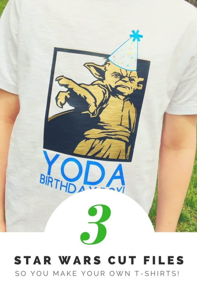 Free Star Wars Cut Files to use with Cricut so you can personalize your own shirts