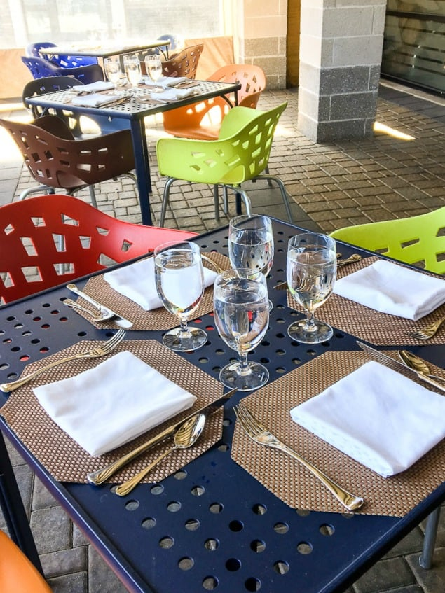 Hotel Indigo East End Long Island NY outdoor dining