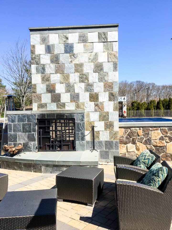 Hotel Indigo East End Long Island NY outdoor fireplace