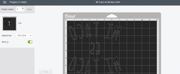 How to mirror letters in Cricut Design Space