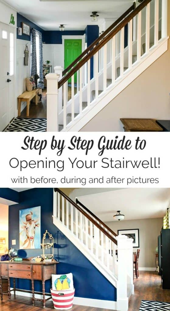 how to open up an interior staircase
