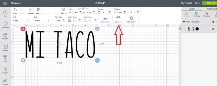 How to use the curve tool in Cricut