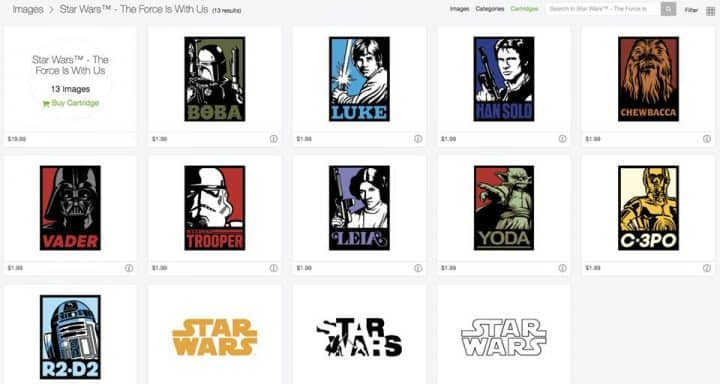Star Wars Images in Cricut Design Space