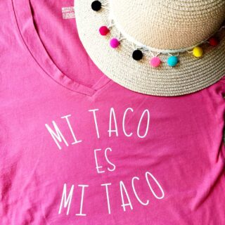 Taco tshirt personalized with cricut
