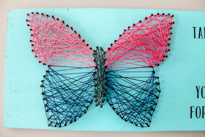 how to make butterfly string art a turtle 39 s life for me. Black Bedroom Furniture Sets. Home Design Ideas