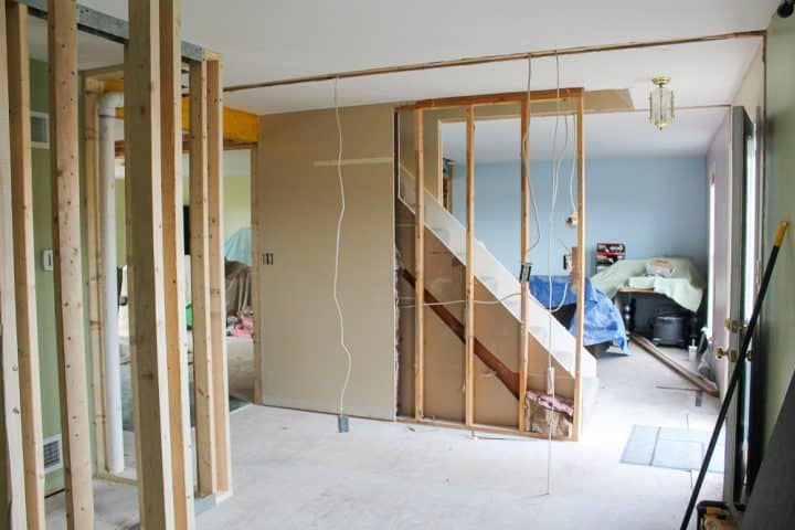 how to open up interior staircase