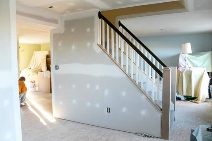 how to open up interior stairs with railing