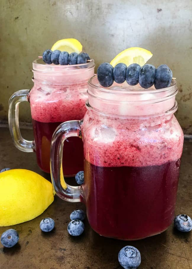 Blueberry Lemonade with Vodka