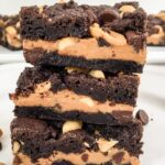 Chocolate Peanut Butter Cake Mix Bars