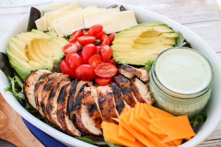 Grilled Chicken Salad Homemade Green Goddess Salad Dressing