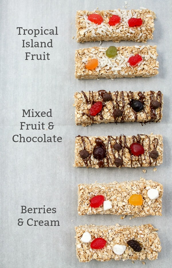 Homemade Granola Bars with Fruit Snacks Flavors