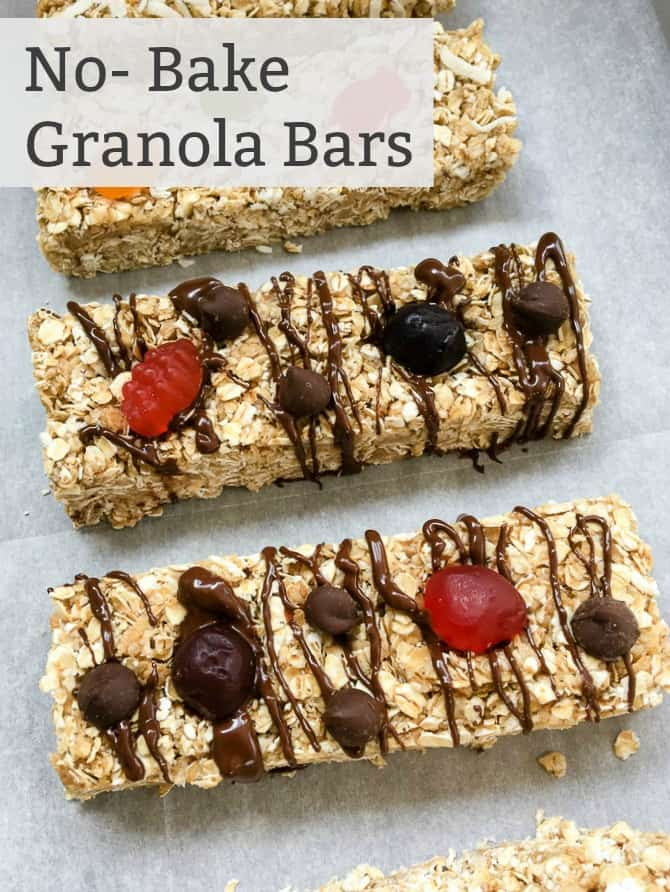 How to make homemade no bake granola bars with fruit toppings