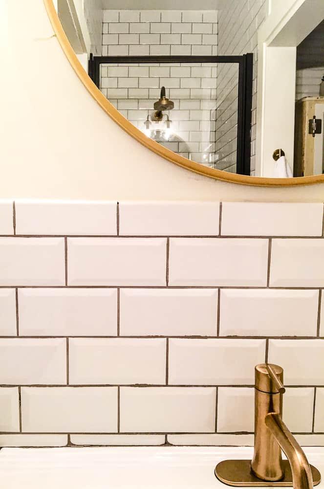 The Morrow House Waco Texas Fixer Upper air bnb rental bathroom design