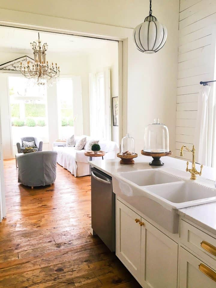 The Morrow House Waco Texas Fixer Upper air bnb rental kitchen