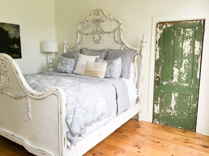 The Morrow House Waco Texas Fixer Upper air bnb rental master bedroom