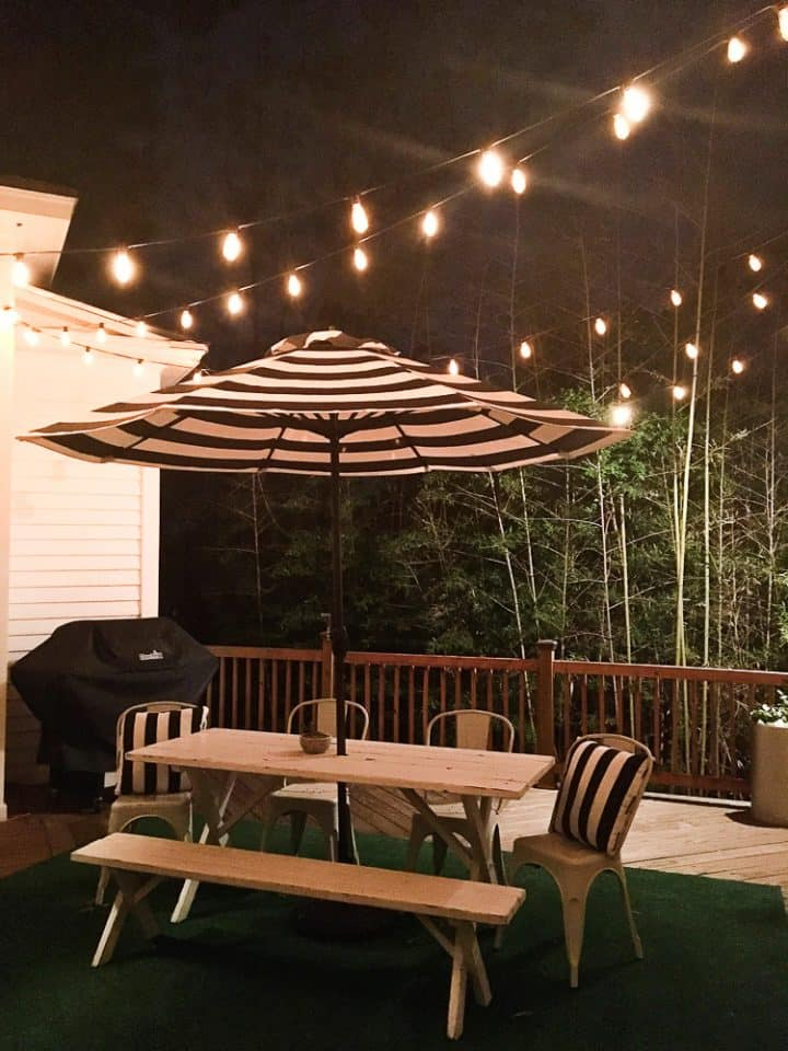 The Morrow House Waco Texas Fixer Upper air bnb rental outside patio