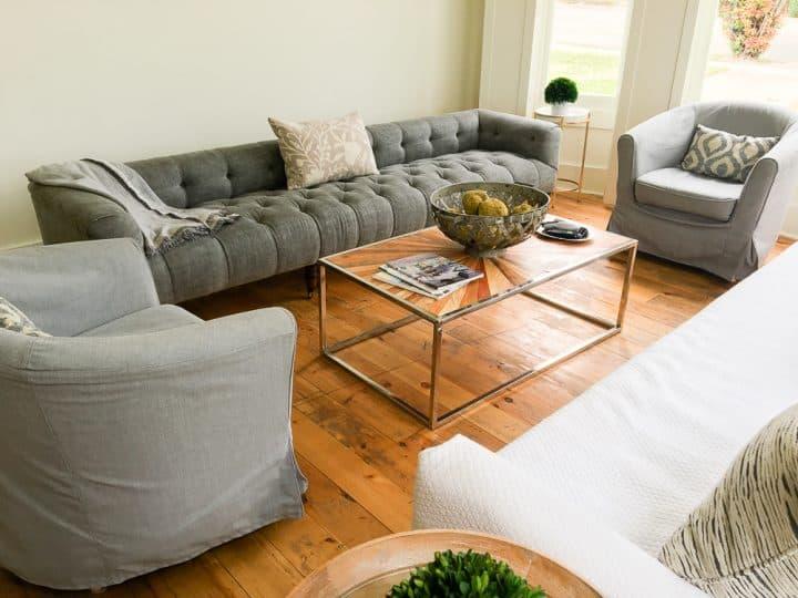 The Morrow House in Waco Texas Fixer Upper house living room