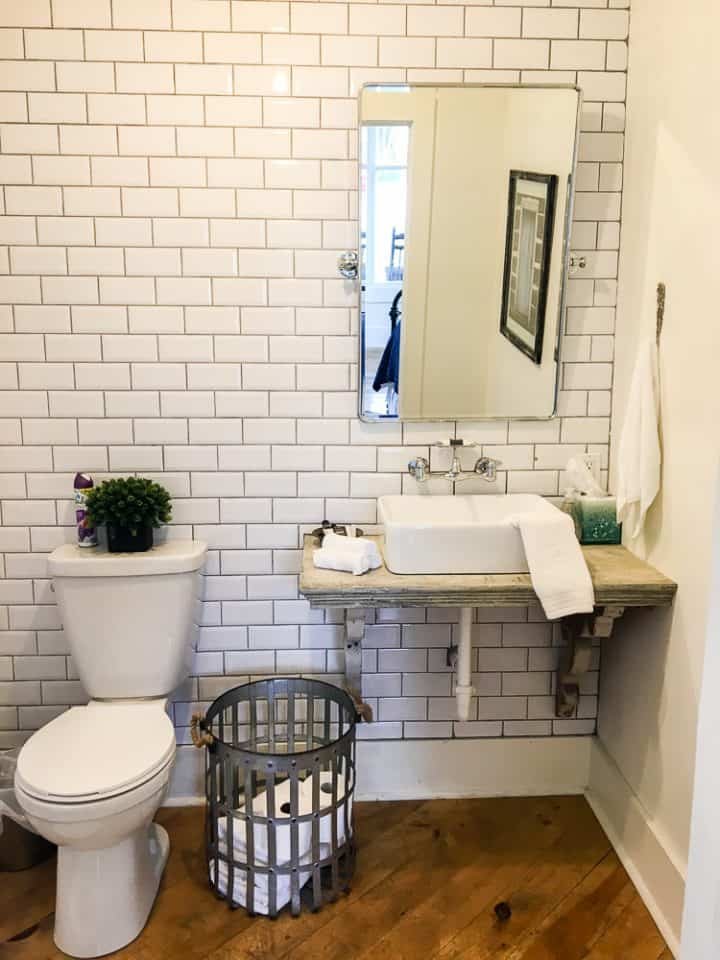 The Morrow House in Waco Texas from Fixer Upper bathroom