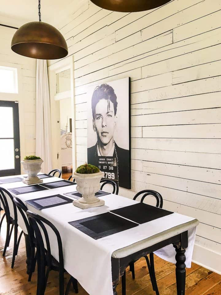 The Morrow House in Waco Texas from Fixer Upper dining room