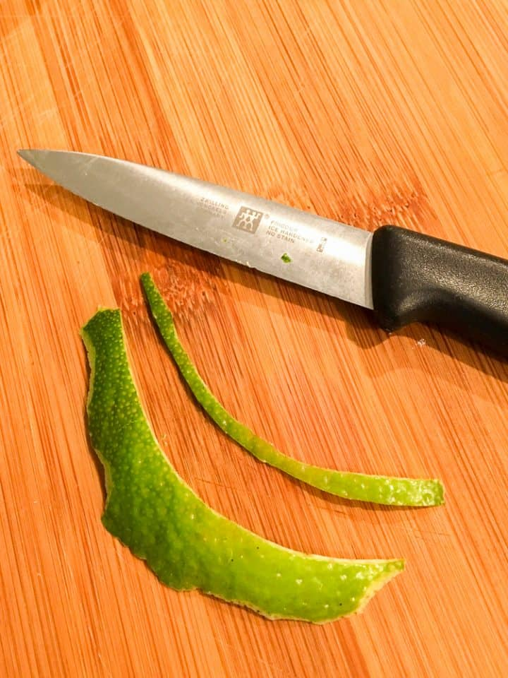 how to peel lime rinds