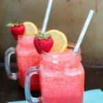 Boozy Strawberry Lemonade Slushie