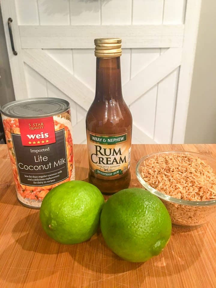 Coconut Lime Cocktail with Rum Recipe Ingredients