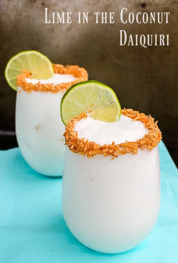 Coconut Lime Daiquiri Cocktail with Rum Recipe