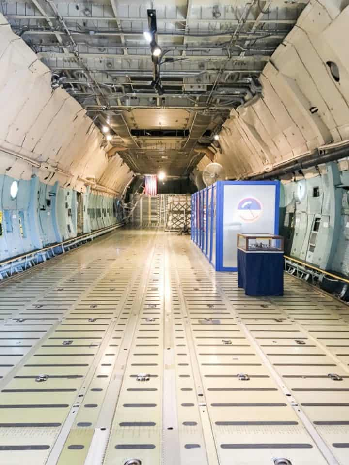 Dover Air Mobility Command Center cargo plane tour