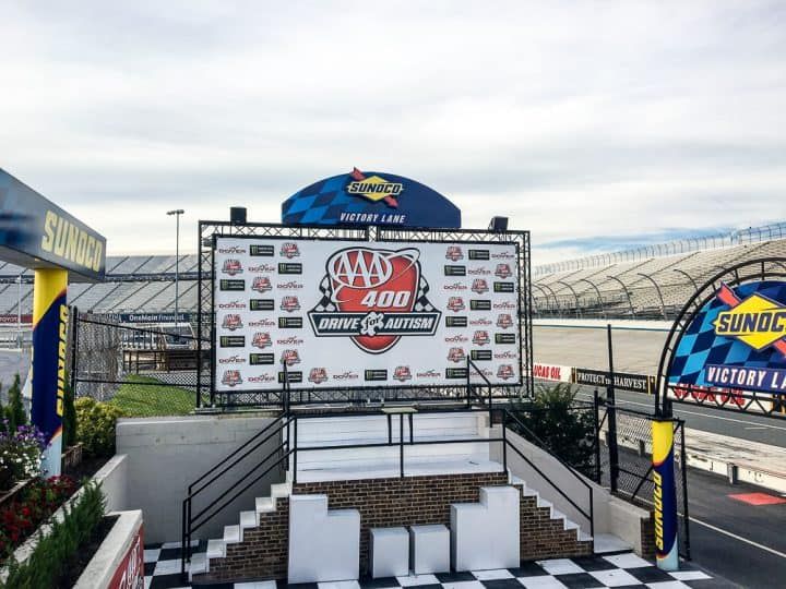 Dover Speedway Sunoco Victory Lane tour