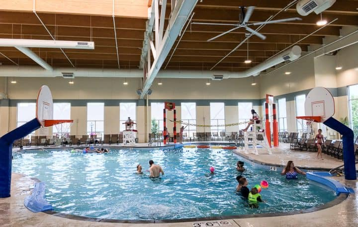 Hershey Lodge water park indoor pool