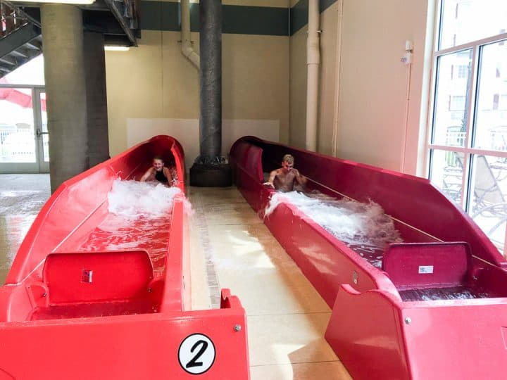 Hershey Lodge water park indoor slides
