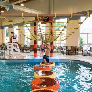Hershey Lodge water park indoor slides for teens