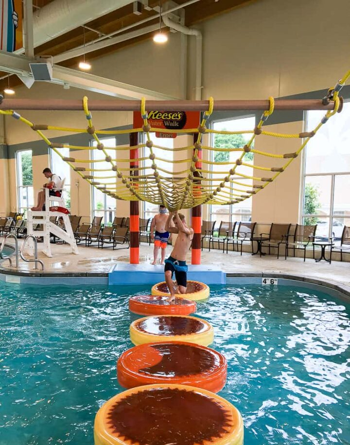 Hershey Lodge water park indoor slides for teens
